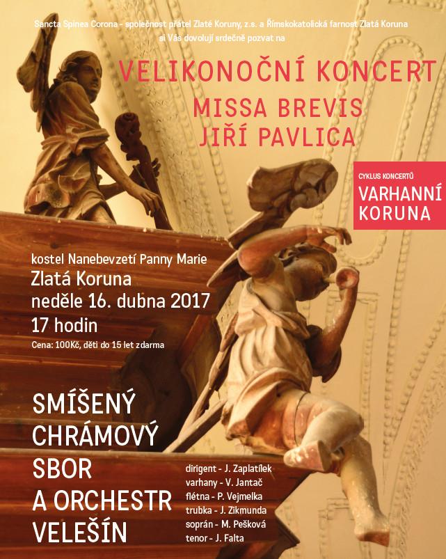 Velikonoční koncert s Velešínským sobrem 2017